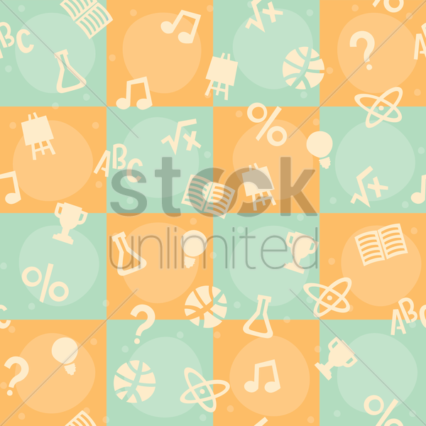 education theme background vector graphic