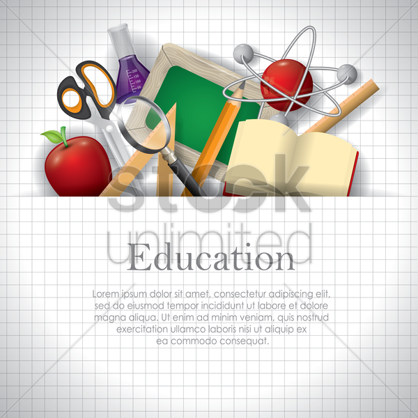 education wallpaper vector graphic