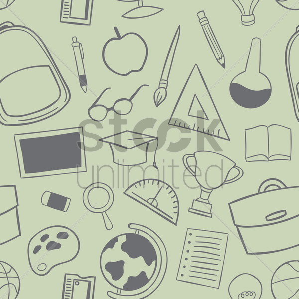 educational design background vector graphic
