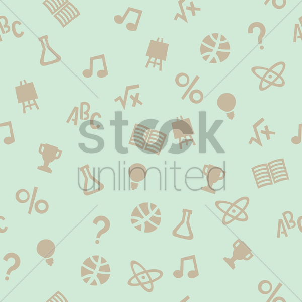 educational theme background vector graphic