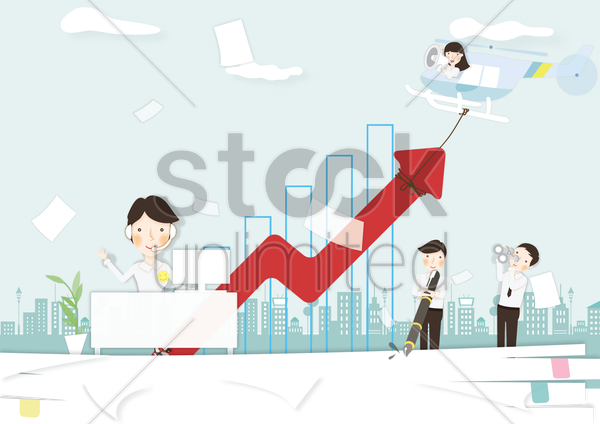 Free effective business concept vector graphic