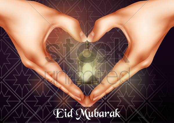 eid mubarak greeting vector graphic