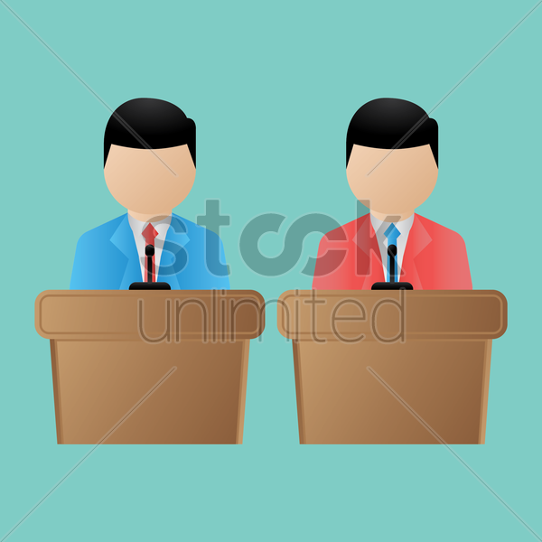 election candidates giving speech vector graphic
