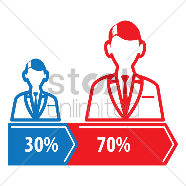 election vote results vector graphic