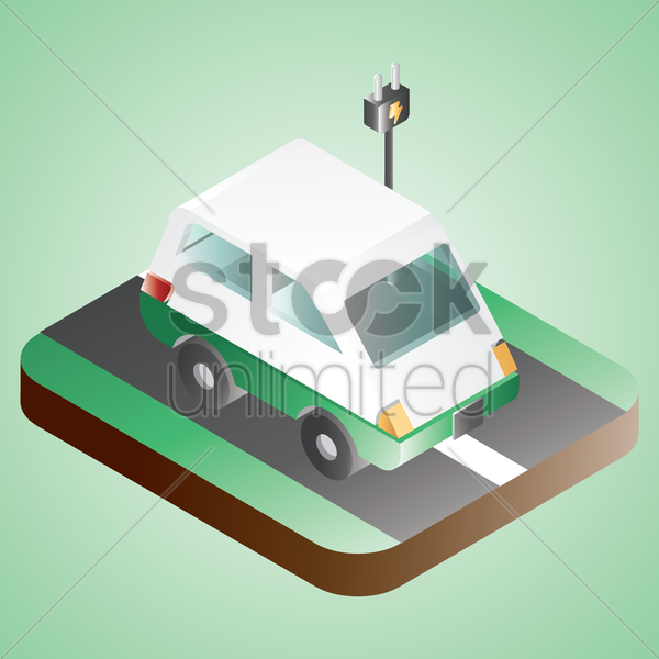 electric car vector graphic