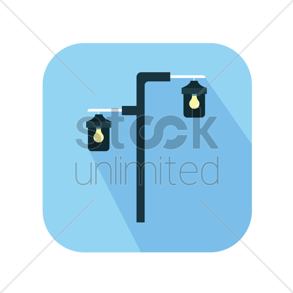electric street light vector graphic