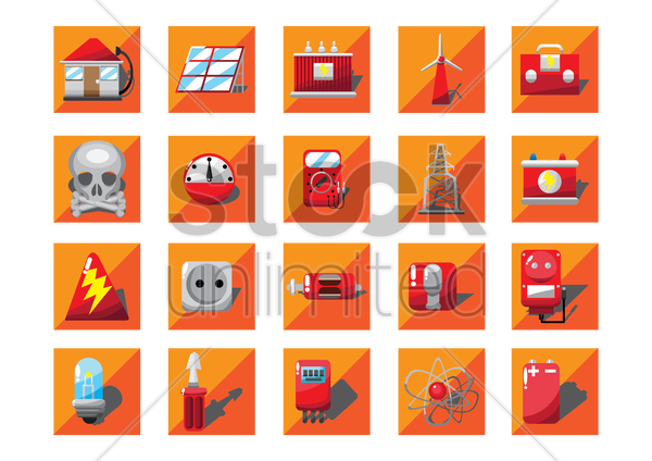 electrical equipments vector graphic