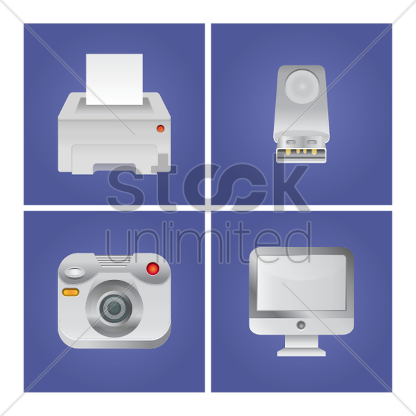 electronic devices vector graphic
