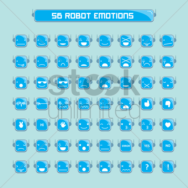 emoticons of robot vector graphic