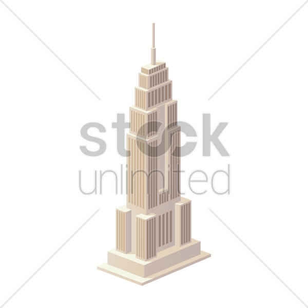 empire state building vector graphic