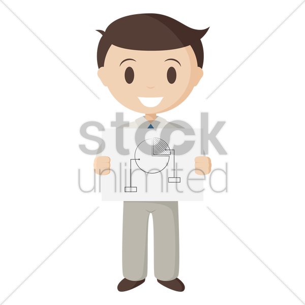 employee giving presentation vector graphic