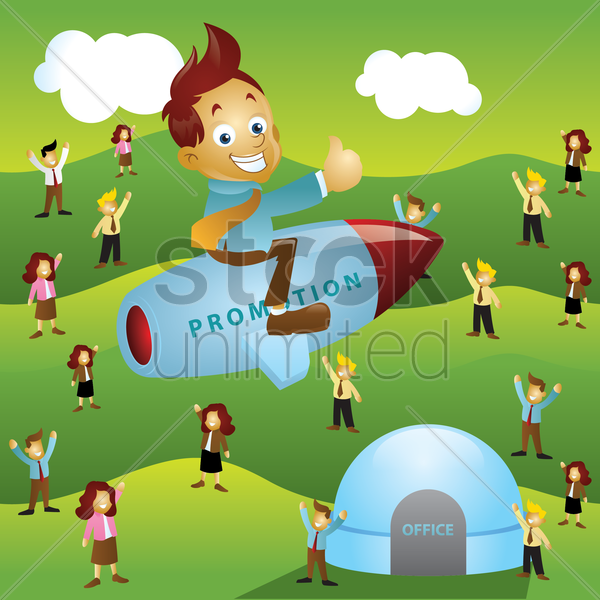 employee promotion concept vector graphic