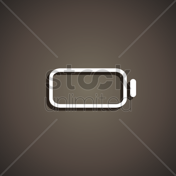 empty battery icon vector graphic