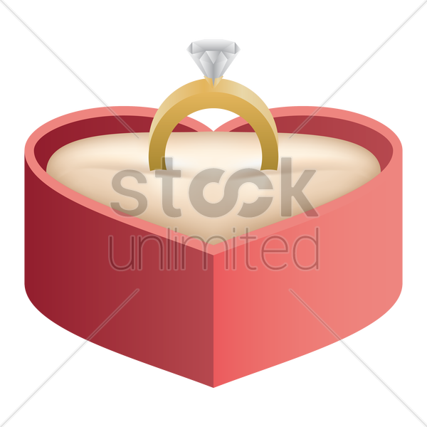 engagement ring vector graphic