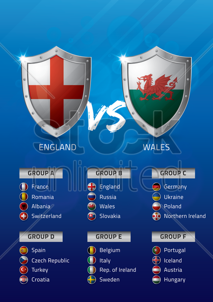 england vs wales vector graphic