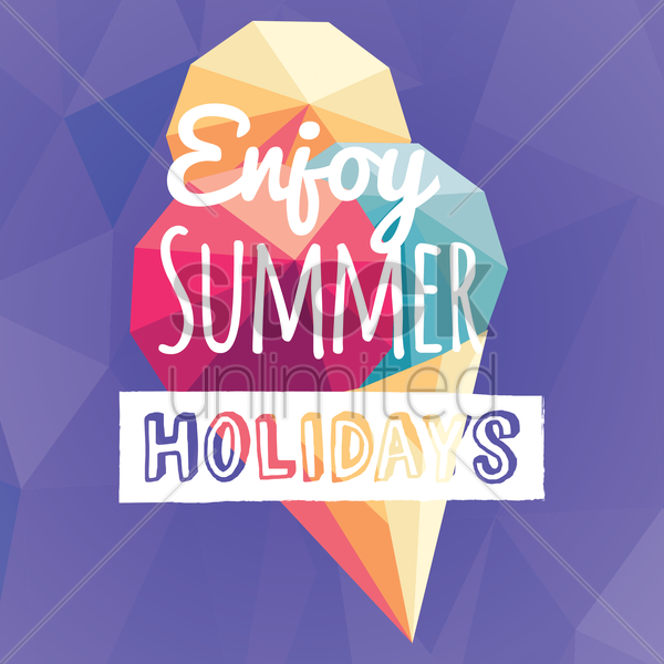 enjoy summer holidays card vector graphic