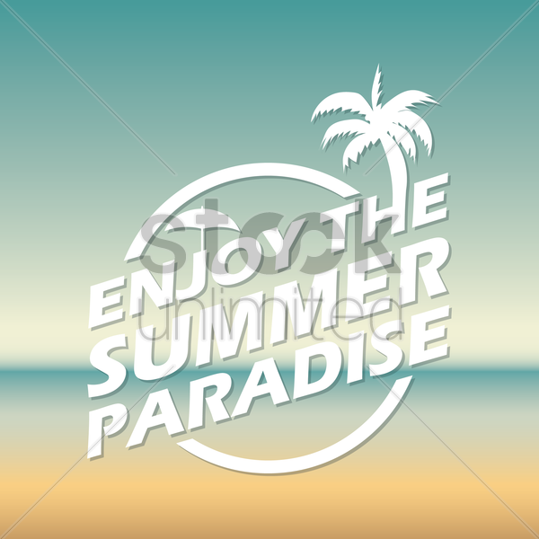 enjoy the summer paradise wallpaper vector graphic