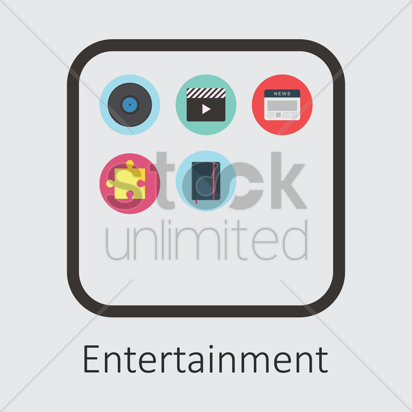 entertainment icon vector graphic