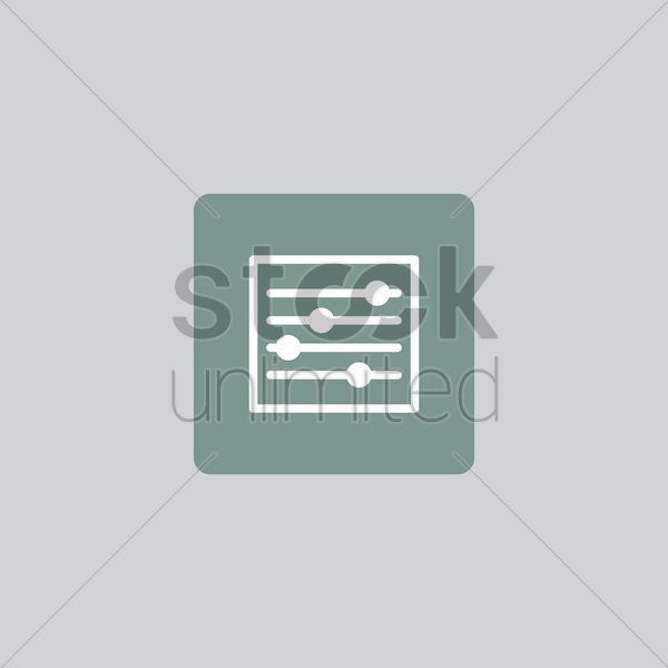 equalizer icon vector graphic