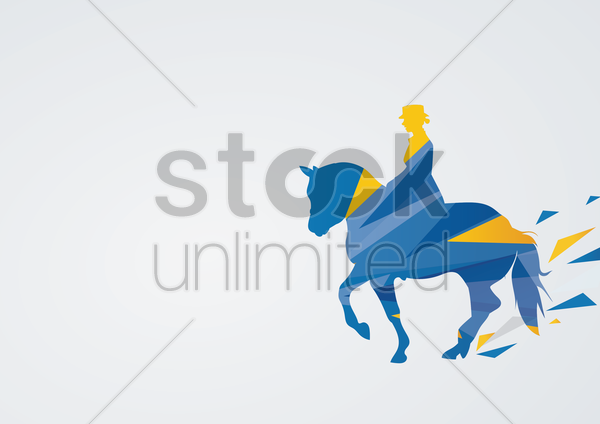 equestrian dressage in action vector graphic