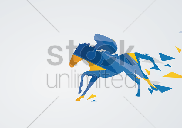 equestrian eventing in action vector graphic