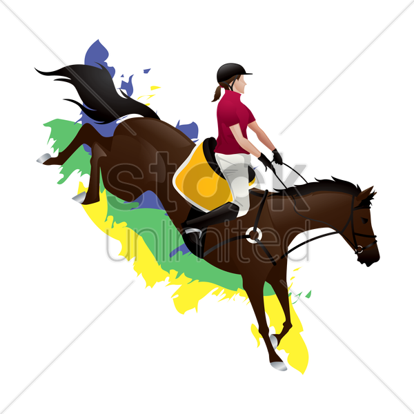 equestrian eventing rider vector graphic