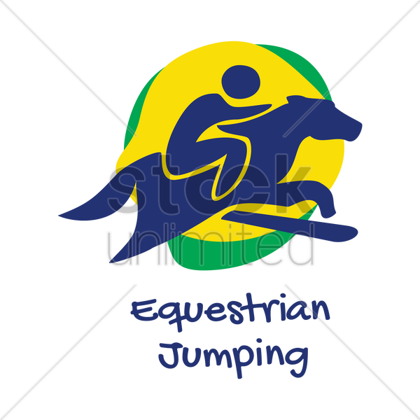 equestrian jumping icon vector graphic