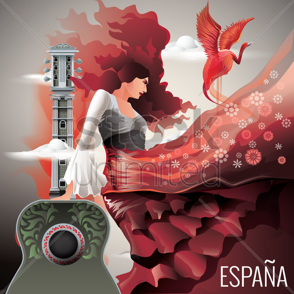 espana wallpaper vector graphic
