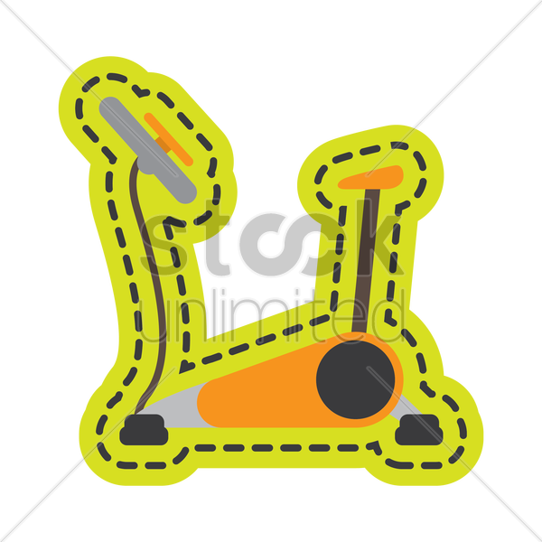 exercise bike vector graphic