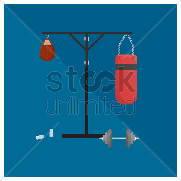 exercise equipment vector graphic