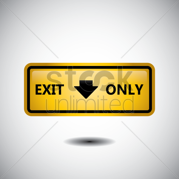 exit only road sign vector graphic