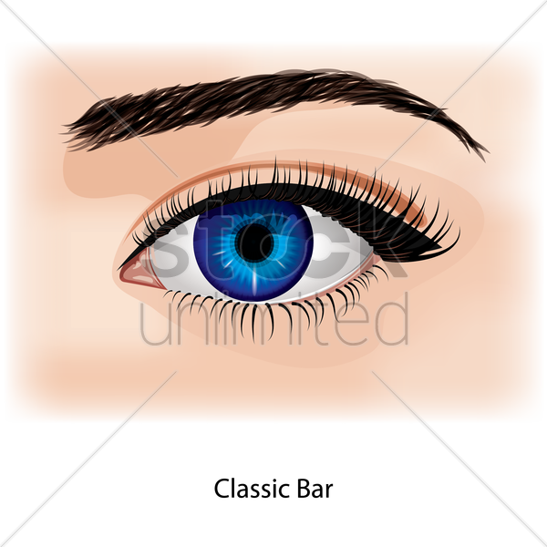 eye with classic bar vector graphic