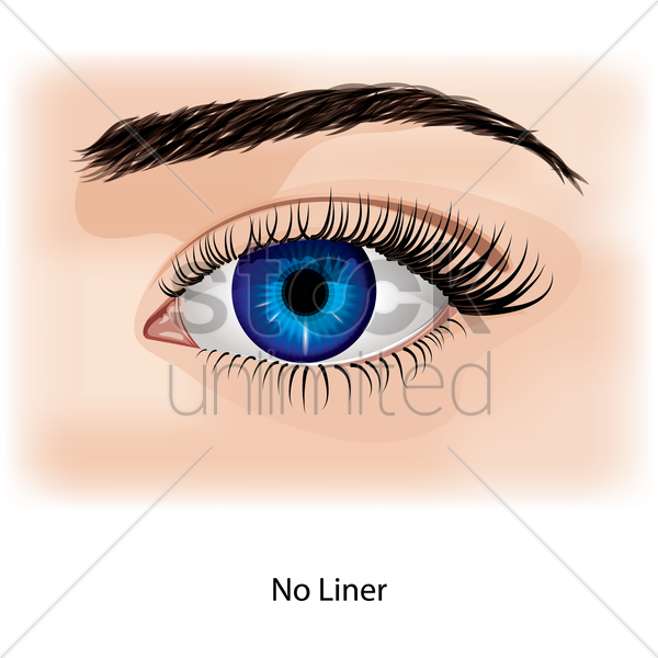 eye with no liner vector graphic
