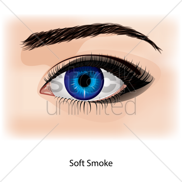 eye with soft smoke vector graphic