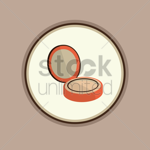 Free face powder on white background vector graphic