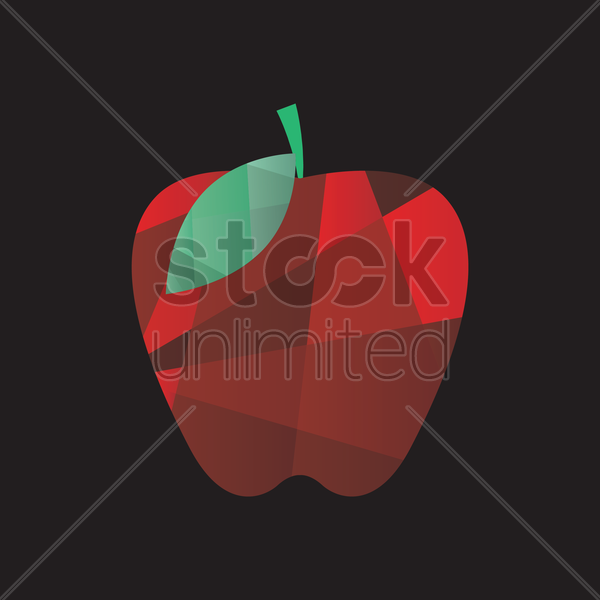 faceted  apple vector graphic