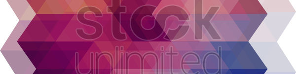 faceted banner vector graphic