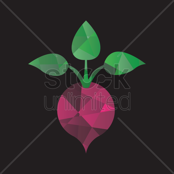 faceted beetroot vector graphic