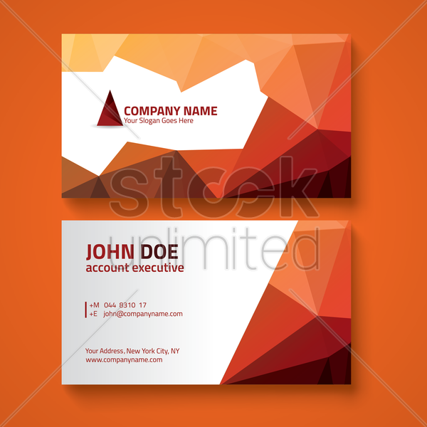 faceted business card design vector graphic