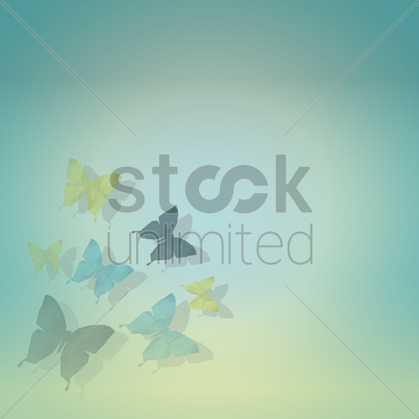 faceted butterflies vector graphic