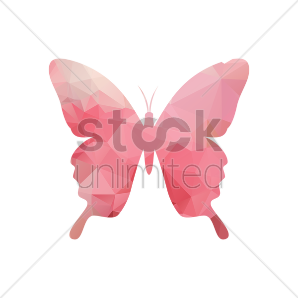 faceted butterfly vector graphic