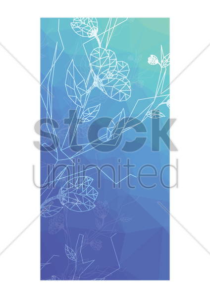 faceted floral background vector graphic