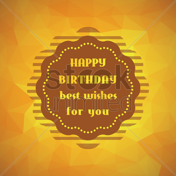 faceted happy birthday card vector graphic