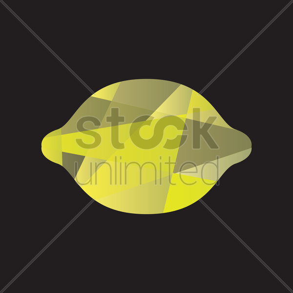 faceted lemon vector graphic