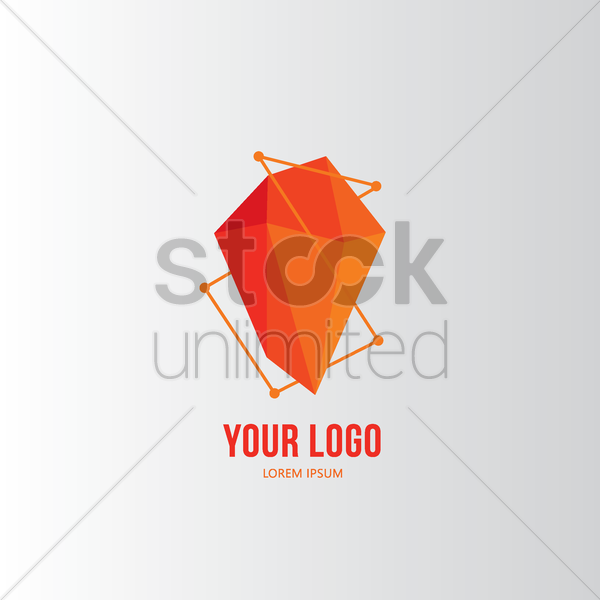 faceted logo element vector graphic