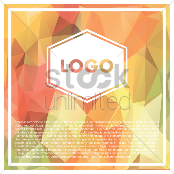 faceted logo vector graphic