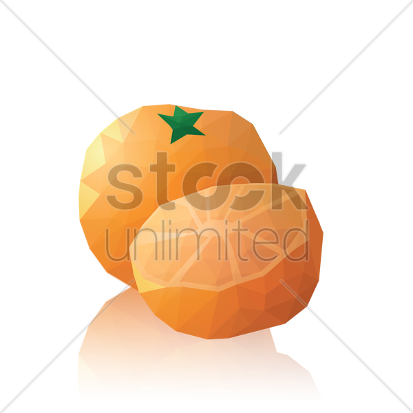 faceted orange vector graphic