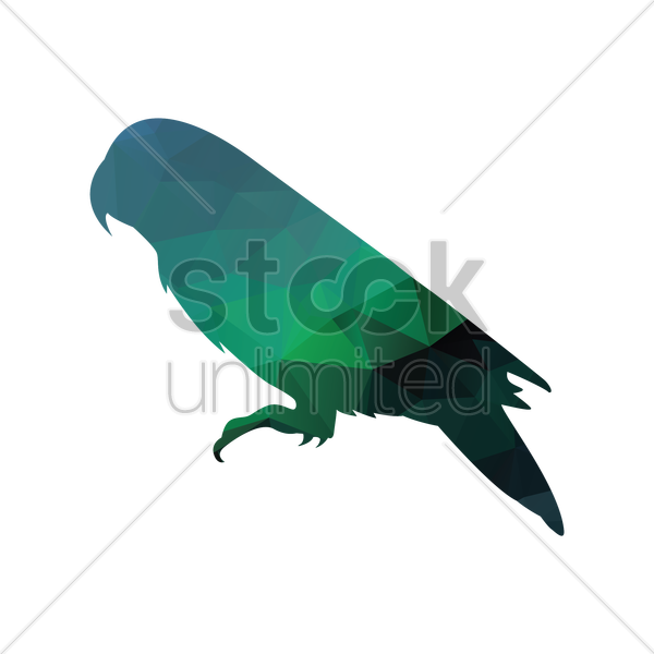 faceted parrot vector graphic