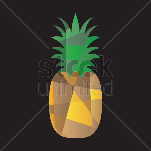 faceted pineapple vector graphic