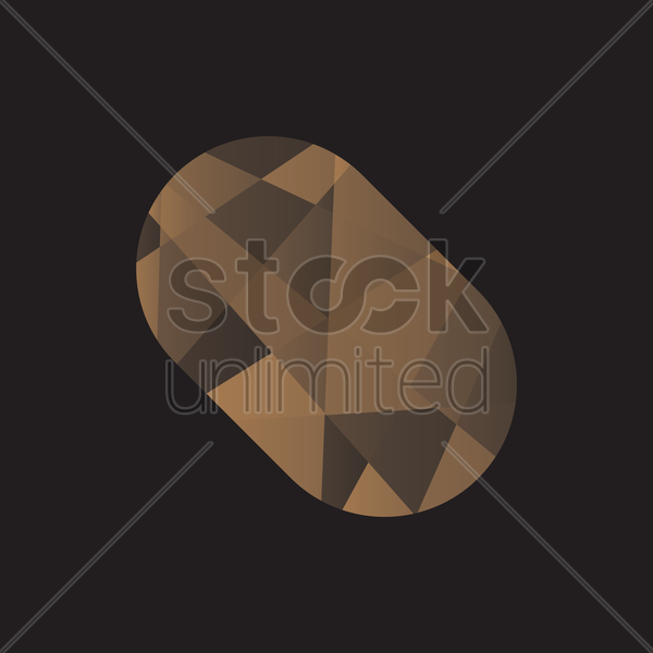 faceted potato vector graphic